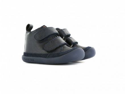 ShoesMe MARINO Baby-Flex Leather Velcro Shoes (Navy)